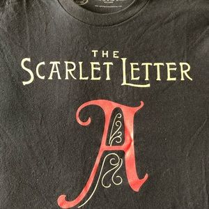 NWT Out of Print Scarlet Letter tee Unisex small